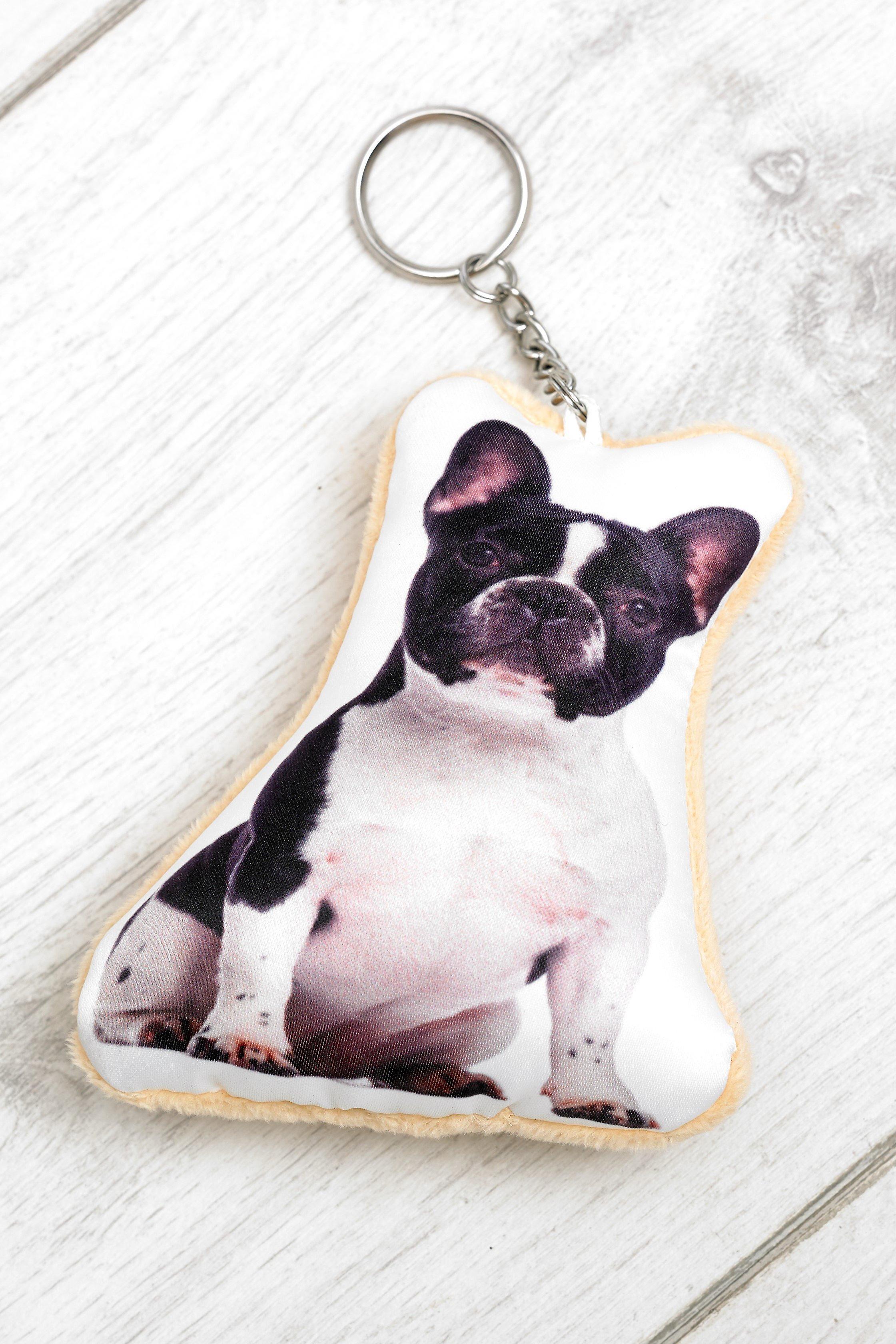 Adorable french bulldog shaped keyring