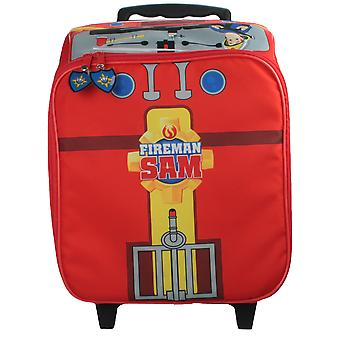 Boys Fireman Sam Novelty Wheeled Case Red 25 Litres