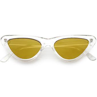 المتطرفة شفافة القط العين نظارات لون المرأة ملون عدسة شقة 51 مم