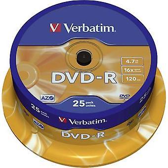 Verbatim 43522 DVD-R en blanco 4.7 GB 25 ud(s) Husillo Recubrimiento antiarañazos