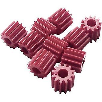 Reely Workplace Trainingsmaterial - Kettenräder Modul Typ 0.5 Bohrungdurchmesser 2,9 mm Nr. der Zähne 12