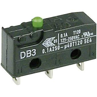 ZF Microswitch DB3C-A1AA 250 V AC 0.1 A 1 x On/(On) momentary 1 pc(s)
