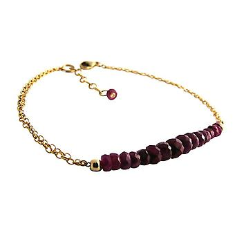 Ruby bracelet gold Red Ruby bracelet jewellery gold plated