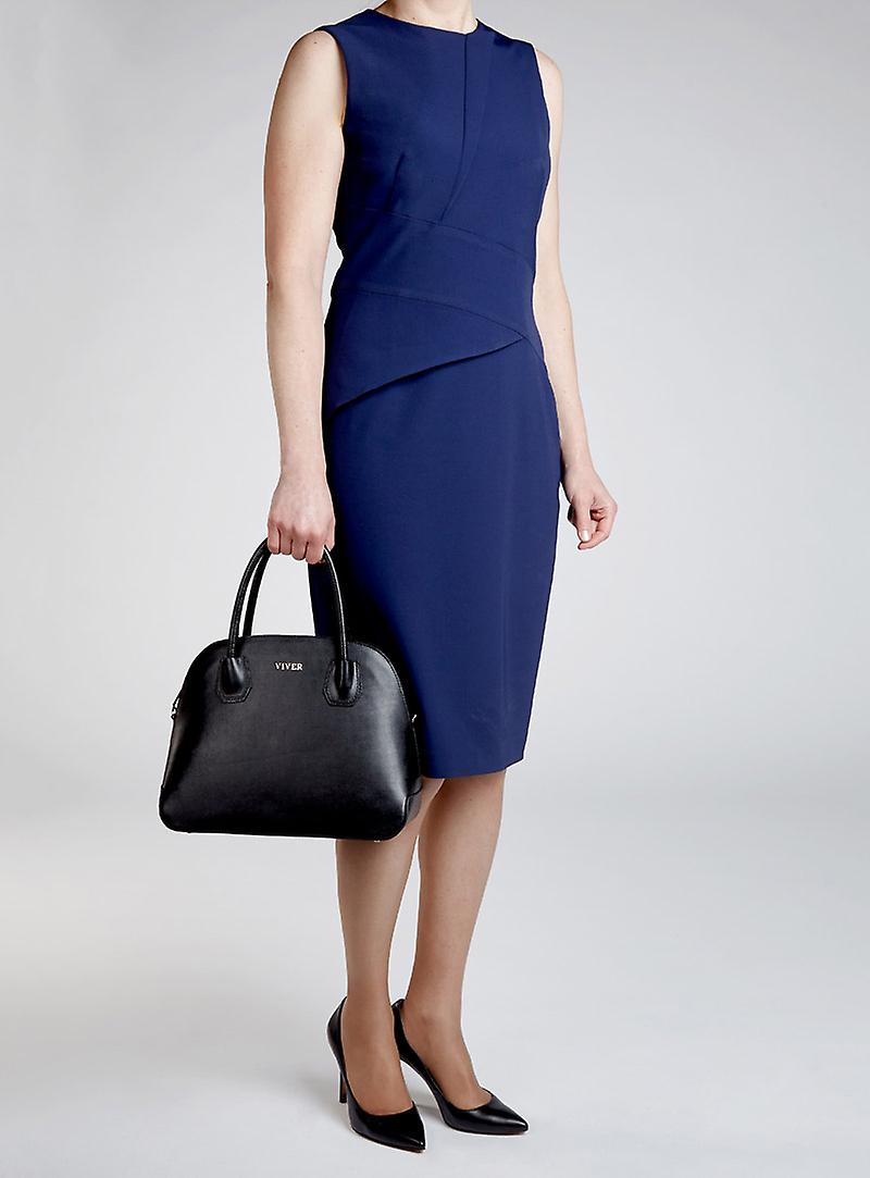 Viver Leather Handbag Leola Black