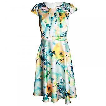 Michaela Louisa A Line Capped Sleeve Printed Dress