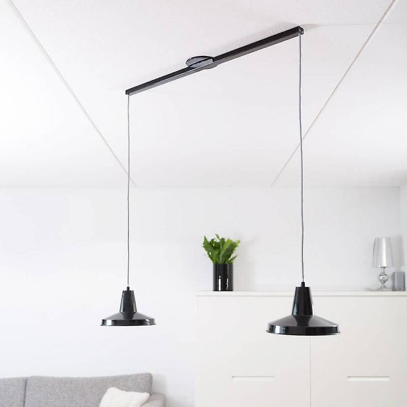 Lightswing suspension system for hanging lamps-Twin-Mat Black