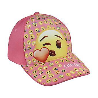 Boné emoji um tamanho rosa pálido