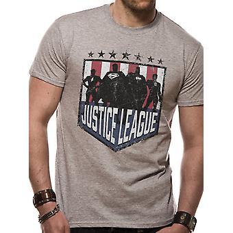 Justice League Comics - Silhouette Shield (Unisex)  T-Shirt