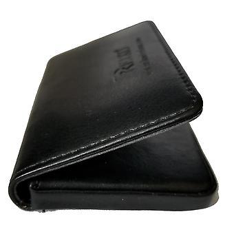 Reiko leather business card holder - Black