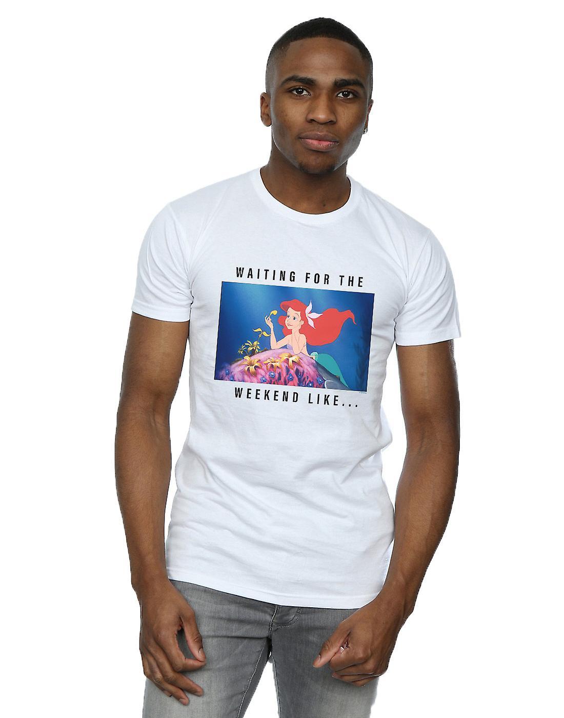 Disney Princess Men's Ariel Waiting For The Weekend T-Shirt