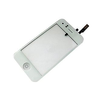 Screen Glass Digitizer frame home button for iPhone 3Gs (white)