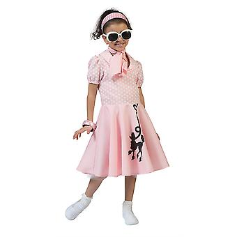Poodle Dress Pink , Small