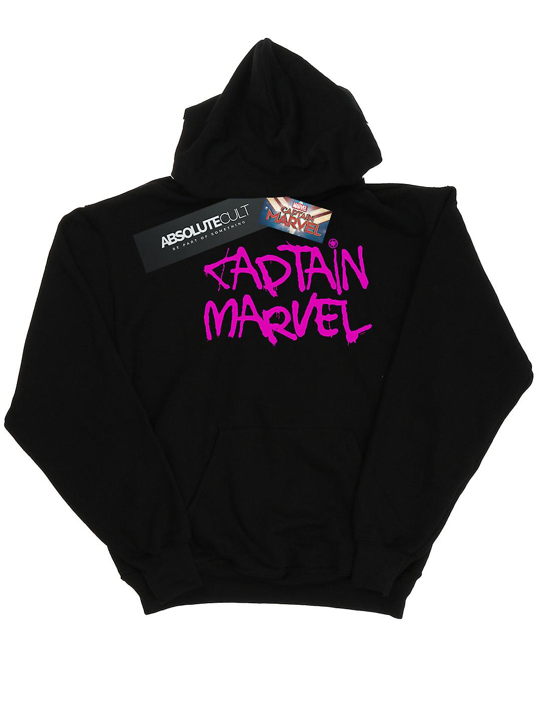 Marvel Women's Captain Marvel Spray Text Hoodie