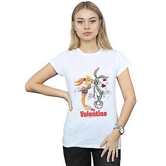 Looney Tunes naisten Bugs Bunny ja Lola Valentine päivä t-paita