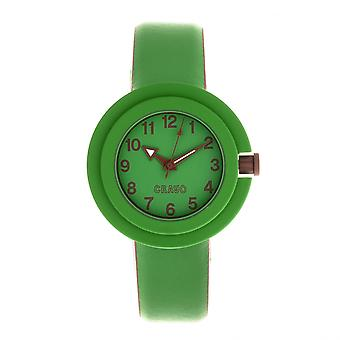 Crayo Equinox Unisex Watch - Green/Brown