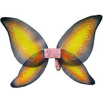 Flügel Kind Fee rosa gelb