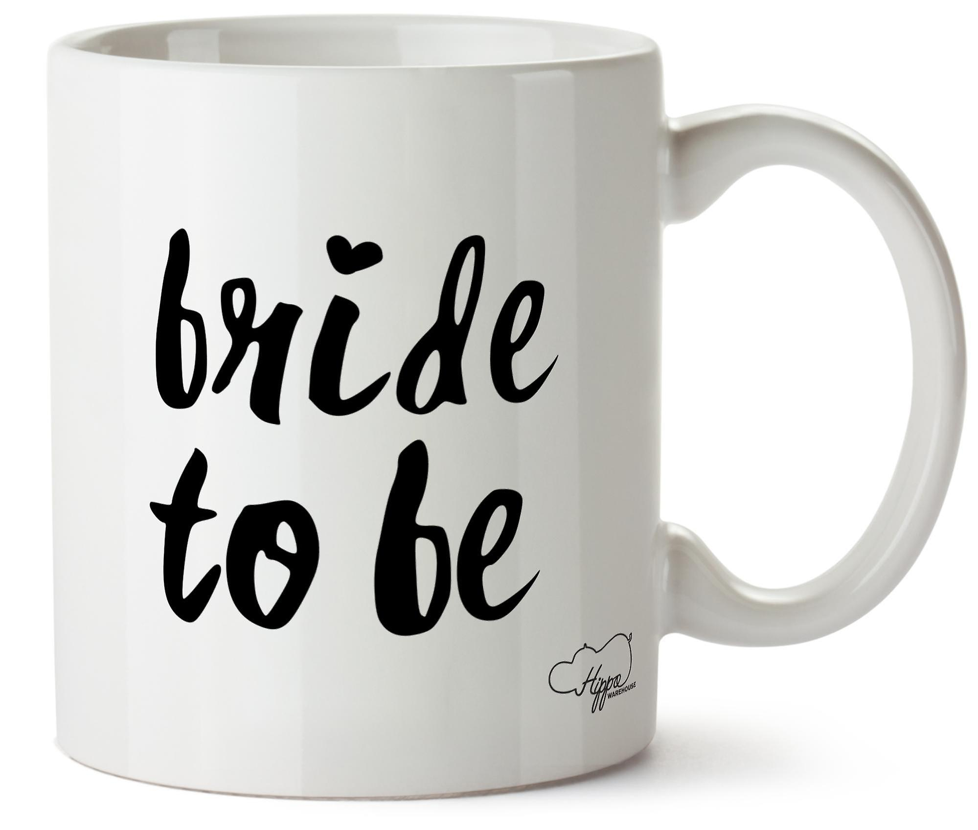 Hippowarehouse Bride To Be 283,5 Gram Mug Cup, Céramique, Blanc, One Size (10oz)