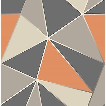 Fina decoración ápice papel pintado geométrico lujo peso pesado metálico moderno