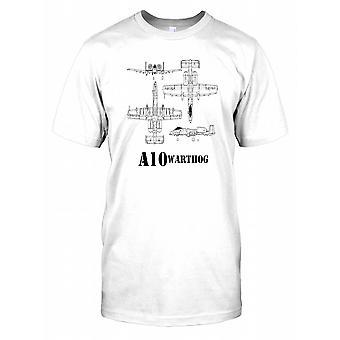 A10 Warthog schematische Poster Herren-T-Shirt