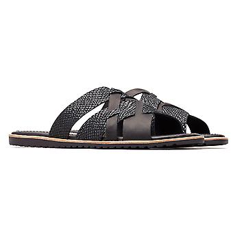 Womens Sorel Ella Slide Crux Snake Skin Open Toe Leather Cut Out Sandals