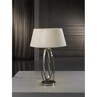 Schuller Ovalos Table Lamp, 1L, Nickel