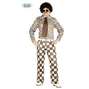 Brady 70s kostym 4-piece 70ies dansare mens en storlek