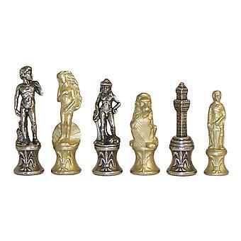 Florence Metal Chess Set Men Chesspieces