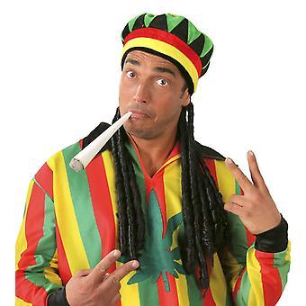 Mens cappello giamaicano con Dreadlocks costume accessorio