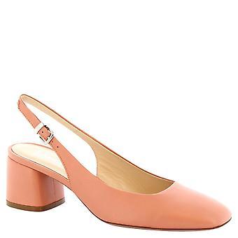 Bloquent les escarpins à la main de Leonardo chaussures talon en cuir de veau saumon