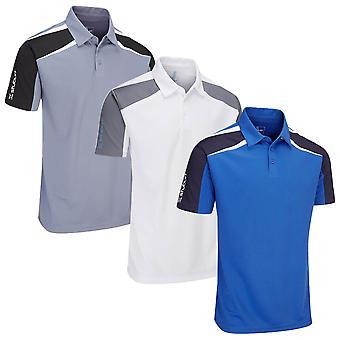 Stuburt Mens Evolve Hindley Moisture Wicking Golf Polo Shirt