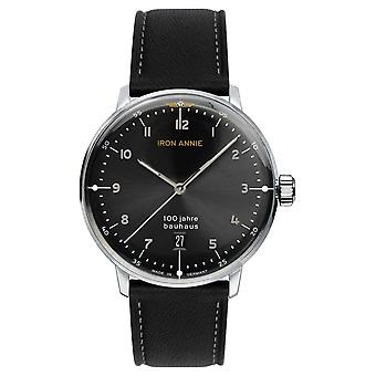 Iron Annie Bauhaus | Black Dial | Black Leather Strap 5046-2 Watch