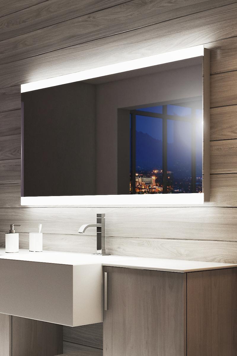 Grove Double Edge Bathroom Mirror with shaver socket k8501h