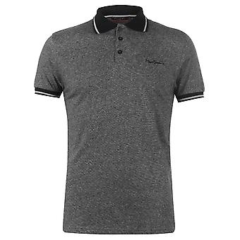 Pierre Cardin Herren Pin Streifen Polo Shirt klassische Fit T-Shirt Top Kurzarm-Button