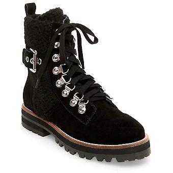 ستيف مادن النساء لاسي الجلود مغلقة الأحذية أزياء الكاحل القدمين