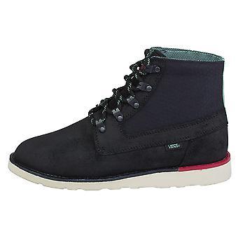 Vans Breton Boot Black QE2A12 skateboard all year men shoes