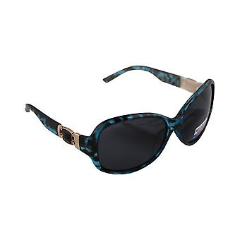 Sunglasses Ladies Polaroid Oval - Leopard Green with free brillenkokerS327_3