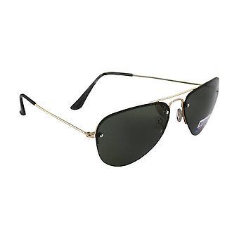 Sunglasses pilot polarizing Glass Gold green FREE BrillenkokerS312_6