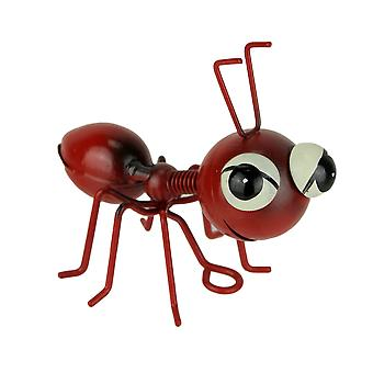 Red Metal Art Big Head Ant Table Sculpture or Wall Hanging