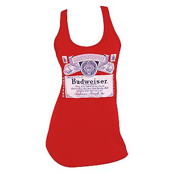 Budweiser Label Racerback Women's Red Tank Top