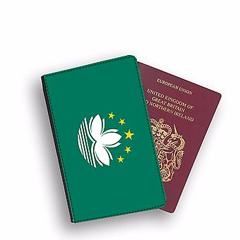 MACAU Flag Passport Holder Style Case Cover Protective Wallet Flags design