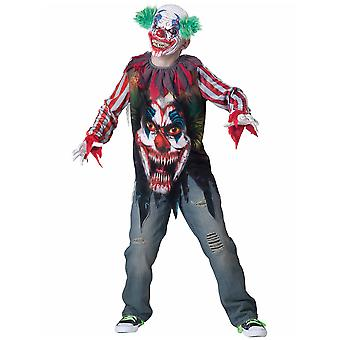 Big Top Terror Horror Killer Clown Circus Joker Halloween Boys Costume