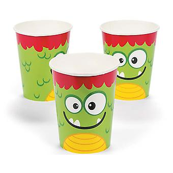 8 Mini Monster Party Pappbecher | Kids Party Cups