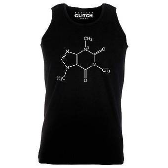 Reality glitch caffeine molecule mens vest