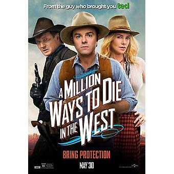 A Million Ways To Die In The West Original Movie Poster - Double Sided Advance