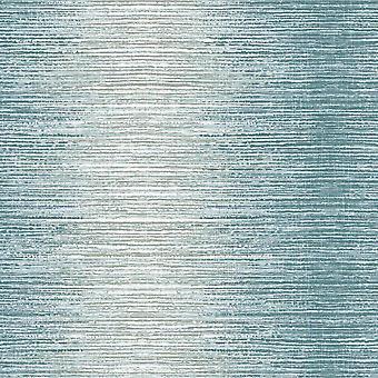 Arlo Teal Ombre Stripe Wallpaper Lines White Silver Metallic Shimmer Holden