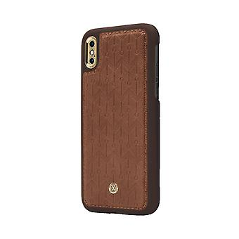 Marvêlle iPhone X/Xs Magnetic Case Light Brown Signature