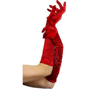 Długie, czerwone rękawiczki