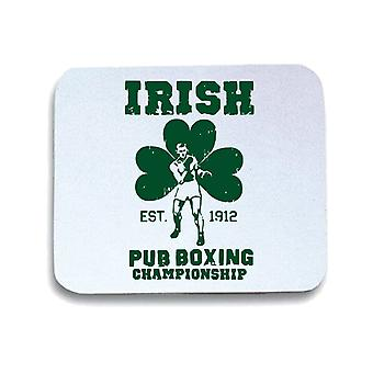 Tappetino mouse pad bianco wtc1283 irish pub boxing