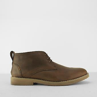 Front Ravello Mens Leather Chukka Boots Brown