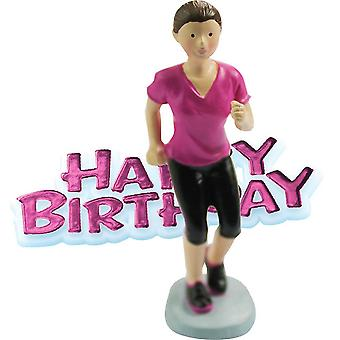 Creative Party Happy Birthday And Runner Cake Topper